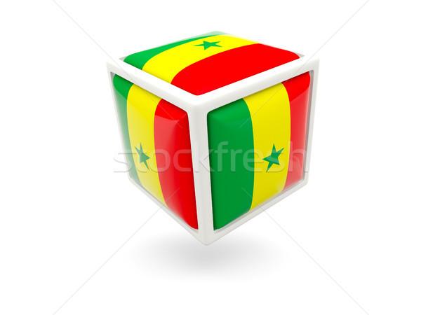 Bandiera Senegal cubo icona isolato bianco Foto d'archivio © MikhailMishchenko