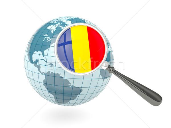 флаг Румыния синий мира изолированный Сток-фото © MikhailMishchenko