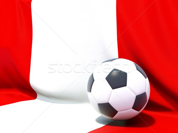 Bandeira Peru futebol equipe país Foto stock © MikhailMishchenko