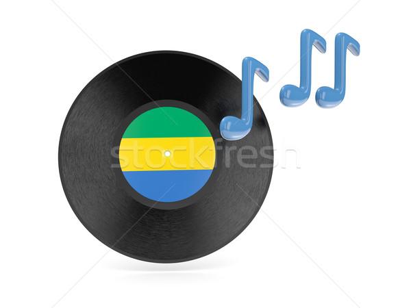виниловых диск флаг Габон изолированный белый Сток-фото © MikhailMishchenko