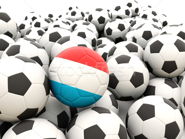 Stockfoto: Voetbal · vlag · Luxemburg · regelmatig · zomer