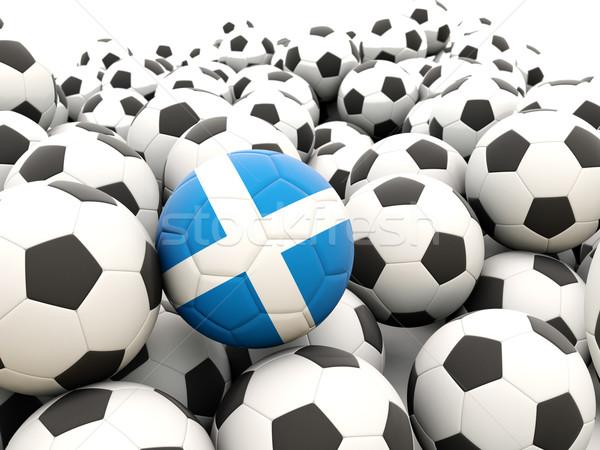 Futbol bayrak İskoçya düzenli yaz Stok fotoğraf © MikhailMishchenko