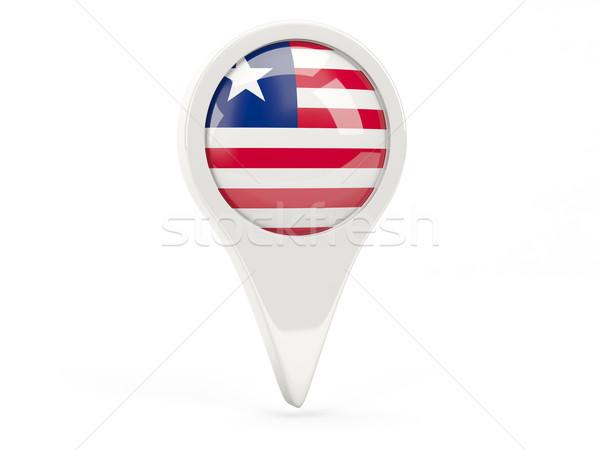 Bandeira ícone Libéria isolado branco mapa Foto stock © MikhailMishchenko