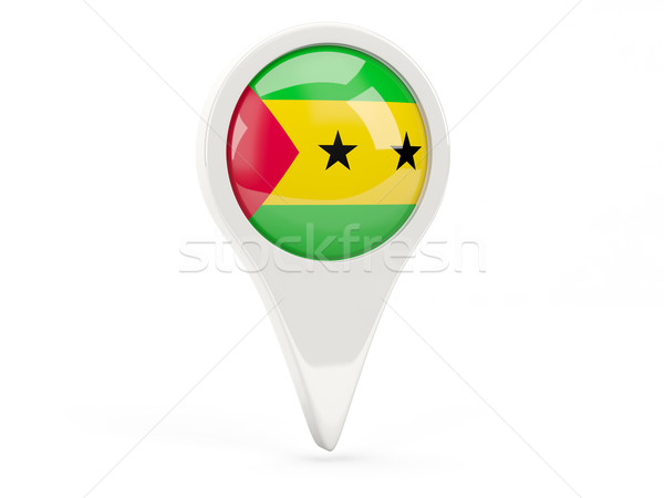 Round flag icon of sao tome and principe Stock photo © MikhailMishchenko