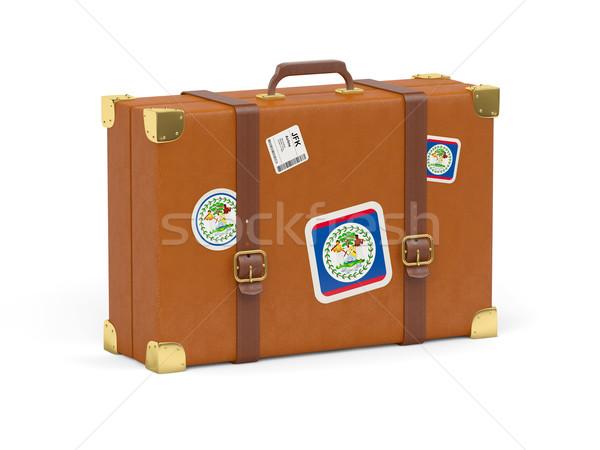スーツケース フラグ ベリーズ 旅行 孤立した 白 ストックフォト © MikhailMishchenko