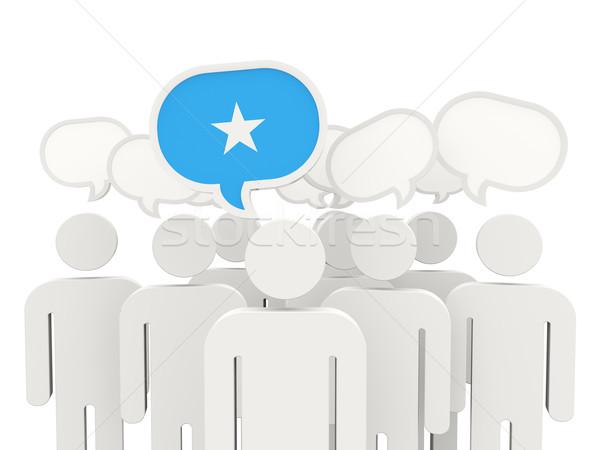 люди флаг Сомали изолированный белый заседание Сток-фото © MikhailMishchenko
