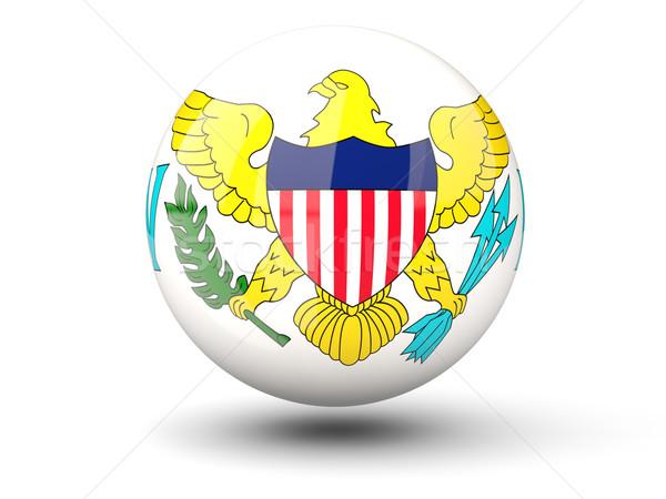 Icona bandiera USA Virgin Islands isolato bianco Foto d'archivio © MikhailMishchenko