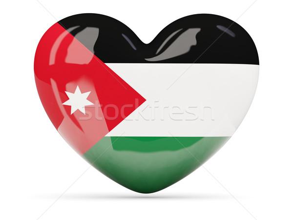 Hart icon vlag Jordanië geïsoleerd Stockfoto © MikhailMishchenko