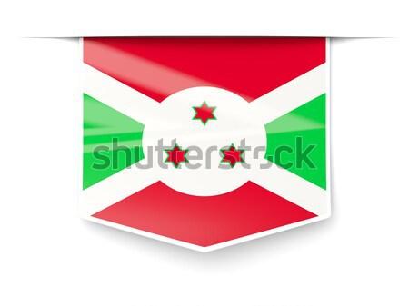 Praça ícone bandeira Burundi metal quadro Foto stock © MikhailMishchenko