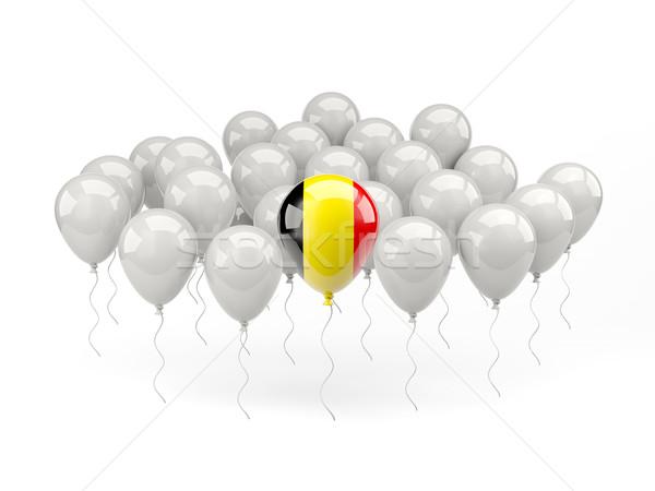 Ar balões bandeira Bélgica isolado branco Foto stock © MikhailMishchenko