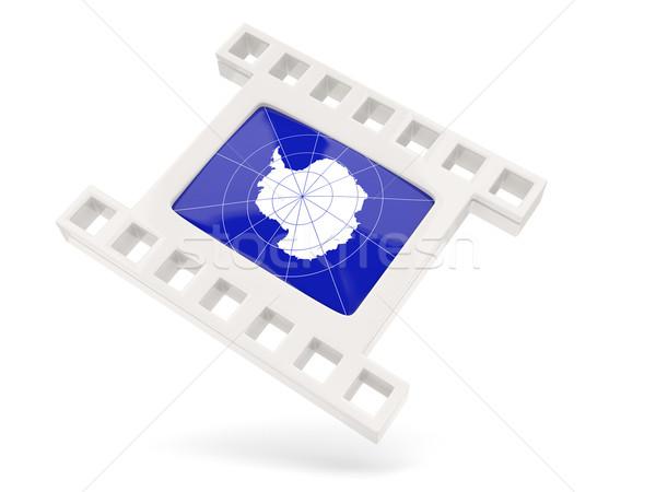 Movie icon with flag of antarctica Stock photo © MikhailMishchenko