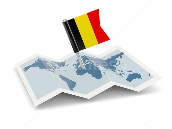 Map with flag of belgium Stock photo © MikhailMishchenko