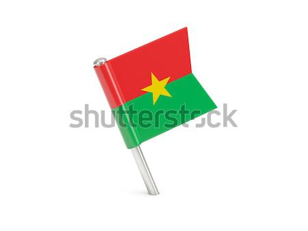 Flag pin of burkina faso Stock photo © MikhailMishchenko