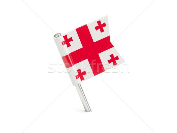 Bandiera pin Georgia isolato bianco Foto d'archivio © MikhailMishchenko