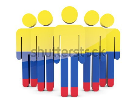 People with flag of french southern territories Stock photo © MikhailMishchenko