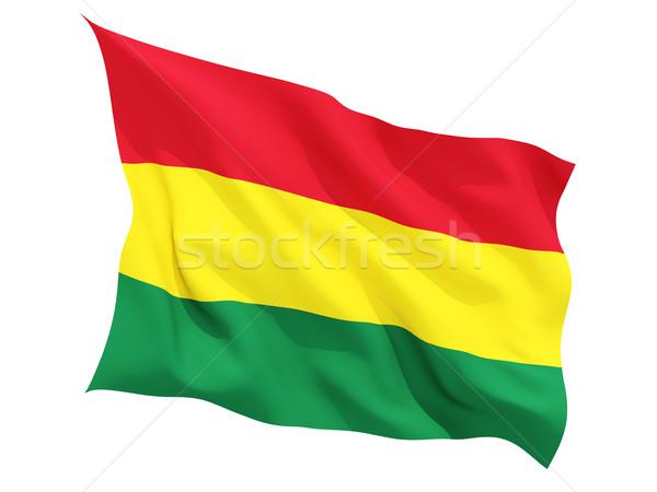 Integet zászló Bolívia izolált fehér Stock fotó © MikhailMishchenko