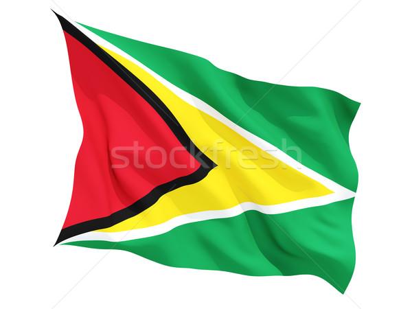 Integet zászló Guyana izolált fehér Stock fotó © MikhailMishchenko
