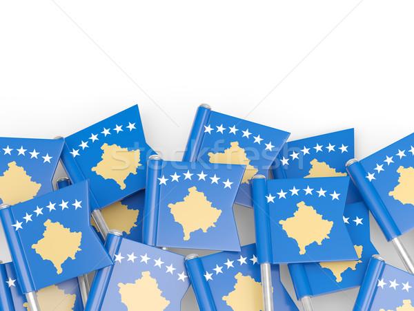 Flag pin of kosovo Stock photo © MikhailMishchenko