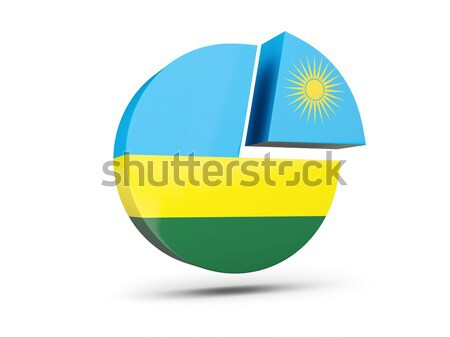 Vignette pavillon Rwanda isolé blanche Voyage Photo stock © MikhailMishchenko