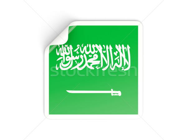 Square sticker with flag of saudi arabia Stock photo © MikhailMishchenko