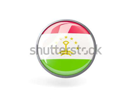 кнопки флаг Таджикистан металл кадр путешествия Сток-фото © MikhailMishchenko