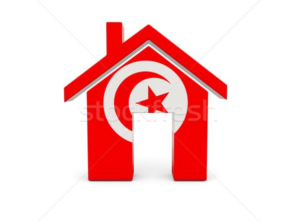 Ev bayrak Tunus yalıtılmış beyaz ülke Stok fotoğraf © MikhailMishchenko