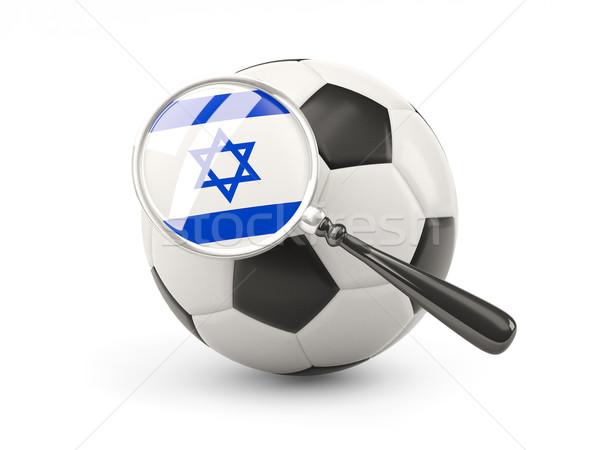 Voetbal vlag Israël geïsoleerd witte Stockfoto © MikhailMishchenko