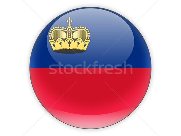 Round icon with flag of liechtenstein Stock photo © MikhailMishchenko