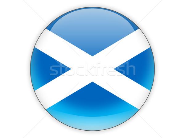 Icono bandera Escocia aislado blanco viaje Foto stock © MikhailMishchenko