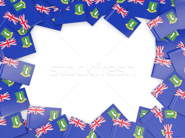 кадр флаг Виргинские о-ва британский изолированный белый Сток-фото © MikhailMishchenko