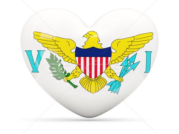 Hart icon vlag USA Virgin Islands Stockfoto © MikhailMishchenko