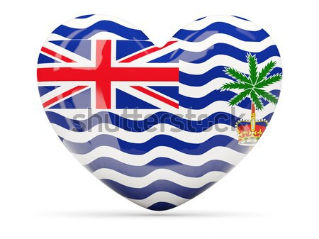 Round icon with flag of british indian ocean territory Stock photo © MikhailMishchenko