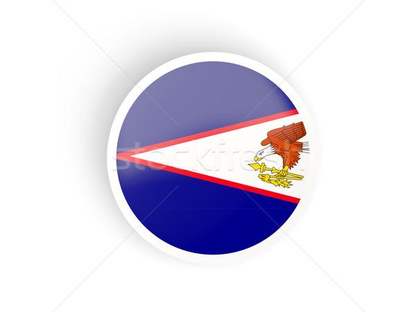 Adesivo bandeira Samoa Americana isolado branco viajar Foto stock © MikhailMishchenko