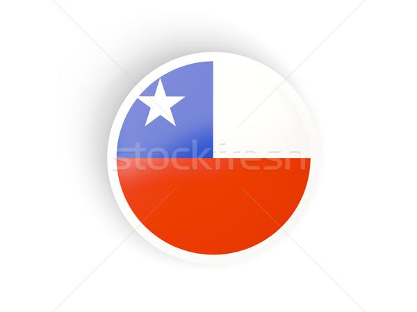 Matrica zászló Chile izolált fehér utazás Stock fotó © MikhailMishchenko