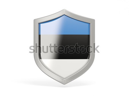 Shield icon with flag of estonia Stock photo © MikhailMishchenko