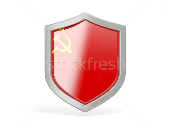 Shield icon with flag of ussr Stock photo © MikhailMishchenko