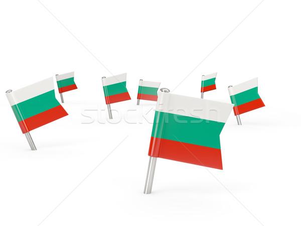 Placu banderą Bułgaria odizolowany biały kraju Zdjęcia stock © MikhailMishchenko
