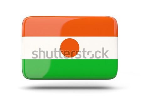 квадратный икона флаг Нигер тень знак Сток-фото © MikhailMishchenko