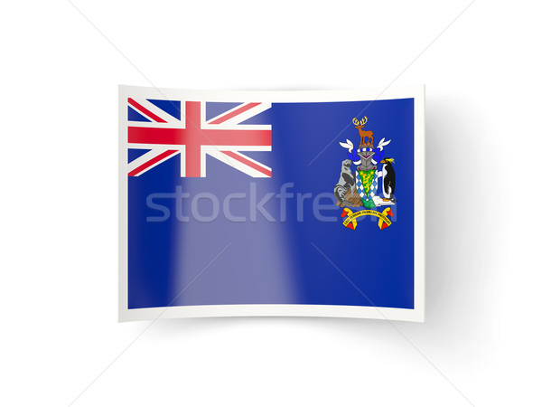 Bent icon with flag of south georgia and the south sandwich isla Stock photo © MikhailMishchenko