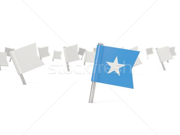 Placu pin banderą Somali odizolowany biały Zdjęcia stock © MikhailMishchenko