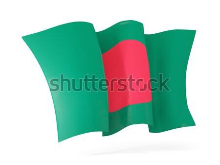Bandeira Bangladesh ilustração 3d isolado branco Foto stock © MikhailMishchenko