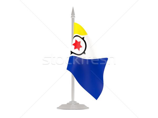 Vlag vlaggestok 3d render geïsoleerd witte Stockfoto © MikhailMishchenko