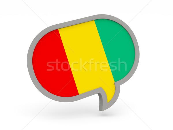 Sohbet ikon bayrak Gine yalıtılmış beyaz Stok fotoğraf © MikhailMishchenko