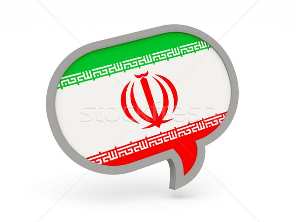 Chat icon with flag of iran Stock photo © MikhailMishchenko