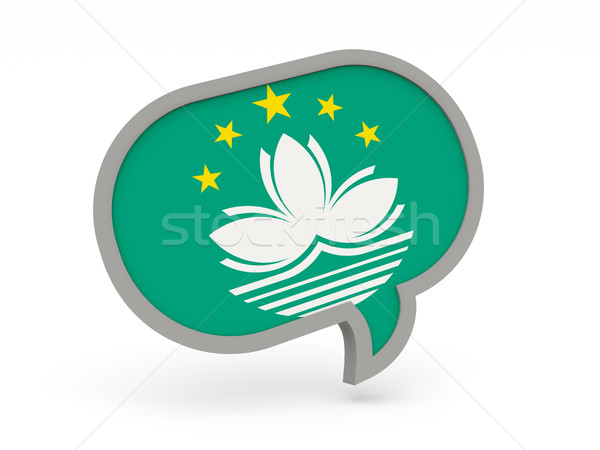 Chat icon with flag of macao Stock photo © MikhailMishchenko