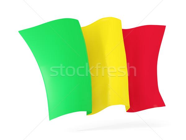 флаг Мали 3d иллюстрации изолированный белый Сток-фото © MikhailMishchenko