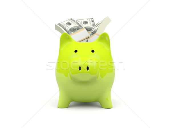 Сток-фото: Piggy · Bank · деньги · изолированный · белый · Финансы · наличных