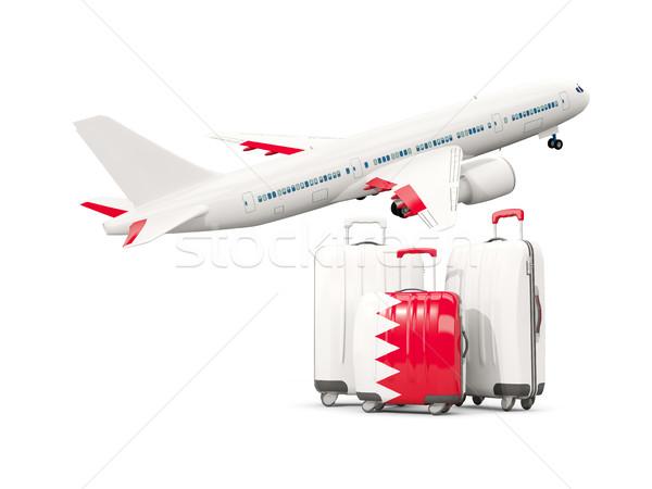 Bagagem bandeira três sacos avião isolado Foto stock © MikhailMishchenko