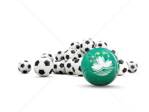 Football with flag of macao isolated on white Stock photo © MikhailMishchenko