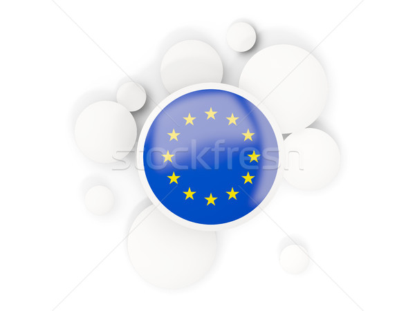 Round flag of european union with circles pattern Stock photo © MikhailMishchenko